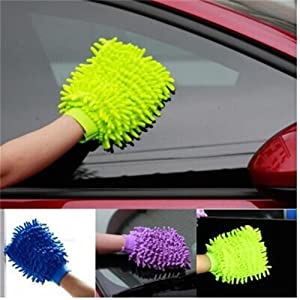 S&M TREADE-Super Mitt Microfiber Car Window Washing Cleaning Cloth Duster Towel Gloves T0
