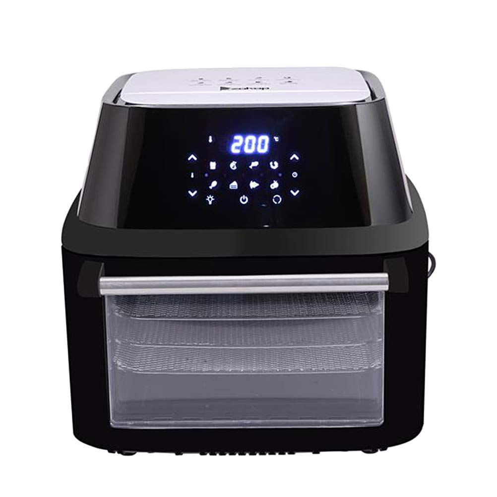 Aksop Air Fryer Oven, 1500W Electric Air Frye with LED Digital Touchscreen 10-in-1 Countertop Oven with Dehydrator Rotisserie with 8 Cooking Presets by Aksop