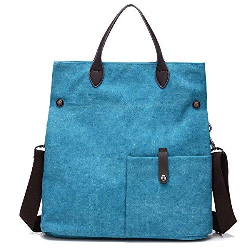 Frauen Vintage-Leinwand Messenger Ipad Schulter Handtasche Schule Multifunktional Tasche ,C-OneSize