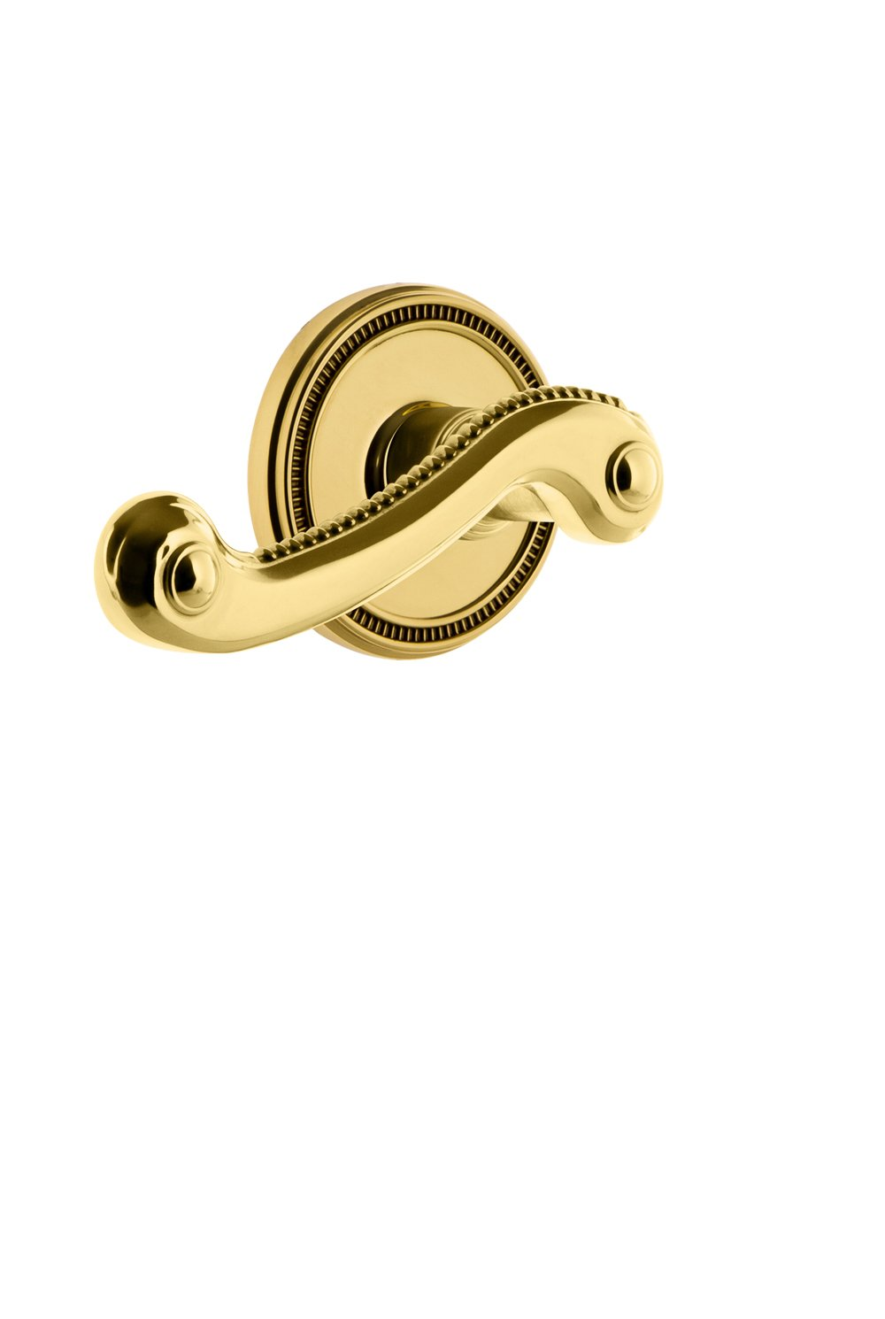Grandeur 820585 Soleil Rosette Double Dummy with Newport Lever in Lifetime Brass