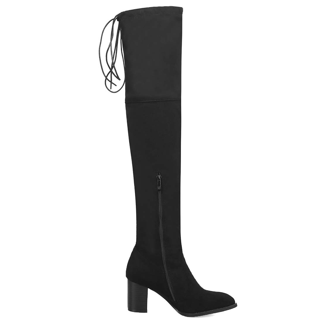 Artfaerie Damen High Heels Overknee Stiefel Langschaft