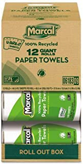 product image for Marcal Small Steps 100% Premium Recycled Giant Roll Towels Roll Out Case