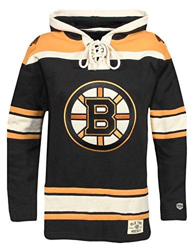Black Boston Bruins Sweatshirt (NHL Boston Bruins Men's Lacer Heavyweight Hoodie, X-Large, Black)