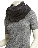 Jocelyn Womens Charcoal Infinity Scarf, Grey