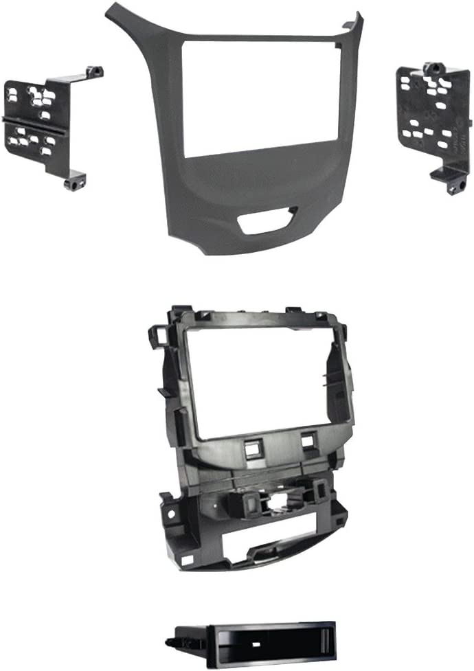 Metra 95-3019B Black Double DIN Dash Kit for Select 2016-up Chevrolet Malibu