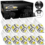 Partsam 10PCS White T10 Wedge 194 168 W5W Interior Dome Map LED Lights Lamp Bulbs