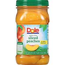 Dole Sliced Peaches in 100% Juice, 23.5 Ounce Jar