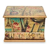 NOVICA Artisan Crafted Paper Wood Decoupage Jewelry Box, Multicolor, Carlota's Memories'
