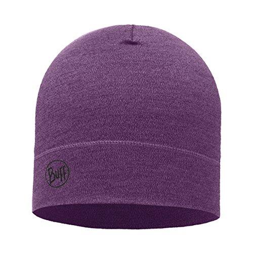 Buff Midweight Merino Wool Hat, Purple Melange, One ()