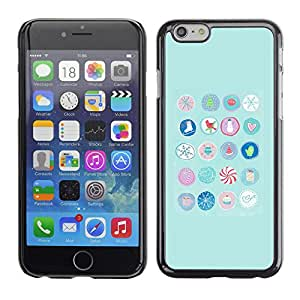 Paccase / SLIM PC / Aliminium Casa Carcasa Funda Case Cover para - Blue Birds Candy Kids Minimalist Pattern - Apple Iphone 6