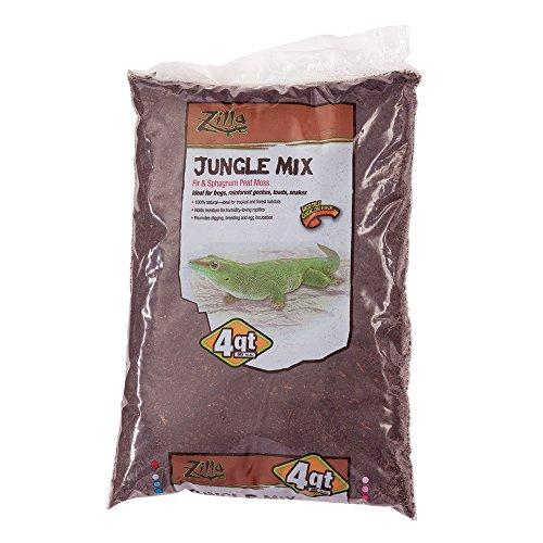Zilla Reptile Terrarium Bedding Substrate Jungle Mix Moss & Fir, 4-Qt. ()