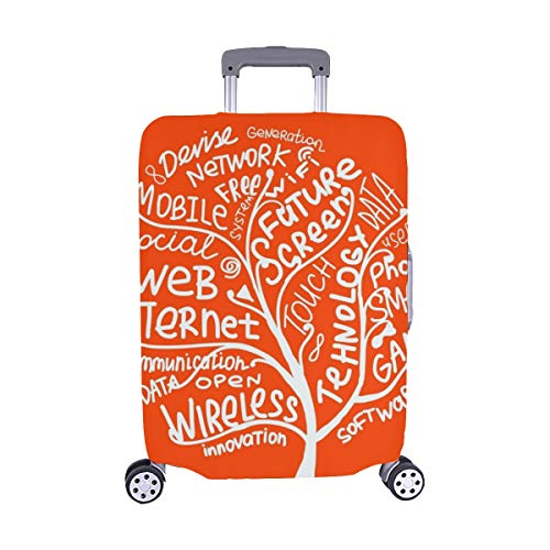 Art Tree Concept Internet Technology Tags Pattern Spandex Trolley Case Travel Luggage Protector Suitcase Cover 28.5 X 20.5 Inch (Best Cloud Database For Small Business)