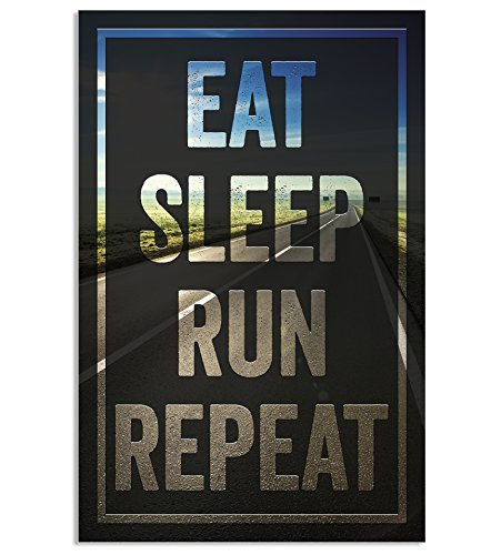 Runner Marathon Training (Damdekoli Eat Sleep Run Poster for Runners, 11 x 17 Inches, Cross Country Print, Track and Field Art)