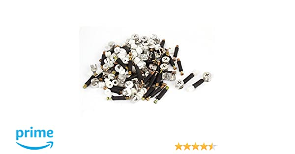 Pack of 50 Uxcell a15073000ux0739 Furniture Connector 15 mm Cam Fittings Pre-inserted Nuts Dowels 50 Sets