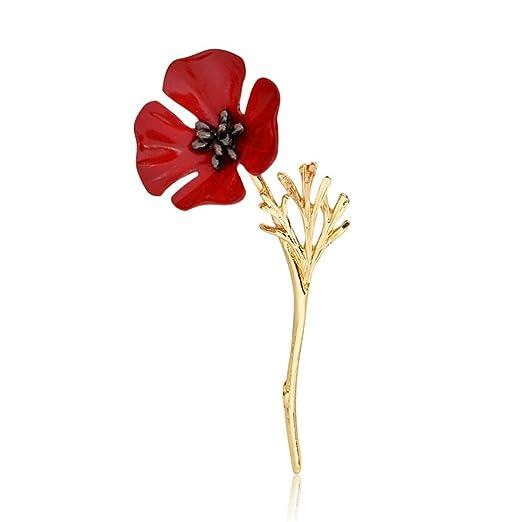 Amazon enamel pin poppy flower poppy spray red brooch retro enamel pin poppy flower poppy spray red brooch retro lapel pin mightylinksfo