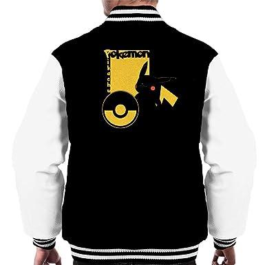 Pokemon Pikachu Profile Mens Varsity Jacket: Amazon.es: Ropa y ...