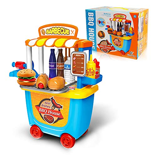 Gizmovine Play Kitchen Toy Pretend Food Truck Toys For