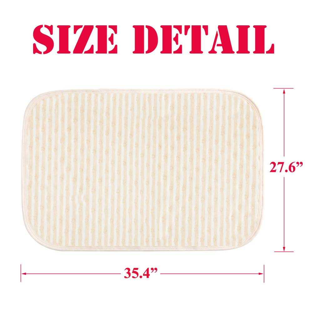 Baby Waterproof Bed Pad Kids Natural Organic Cotton Absorbent Mattress Toddler Bedwetting Mat Crib Pee Urine Pads Changing underpads Diaper for Incontinence Pet Elderly Menstruation Women 39.447.2