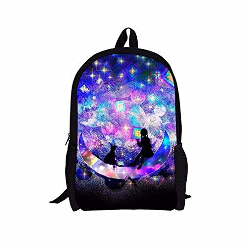 Weajab 3D Galaxy Children School Bags Star Printing School Backpack Schoolbags H2357C