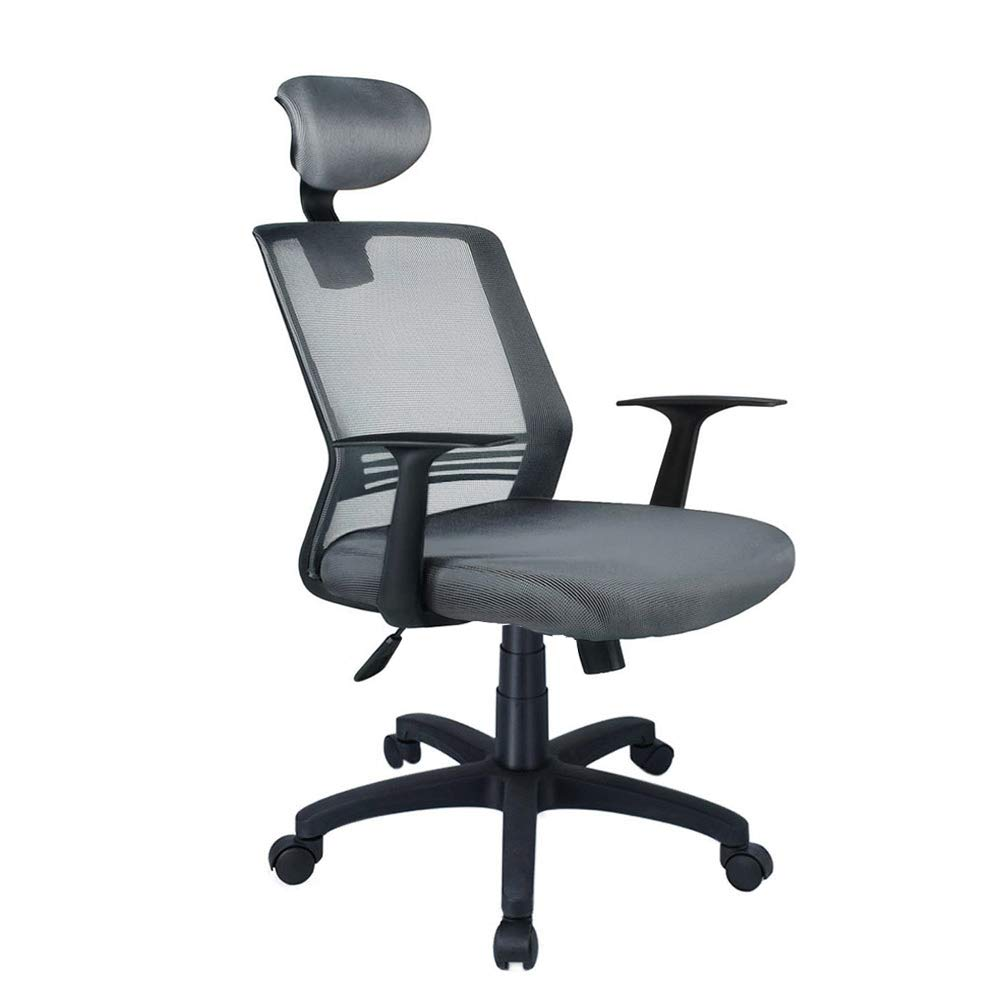 High back mesh office chair ergonomic backrest desk chair with adjustable lumbar support and headrest swivel computer chair ezcheer home office task
