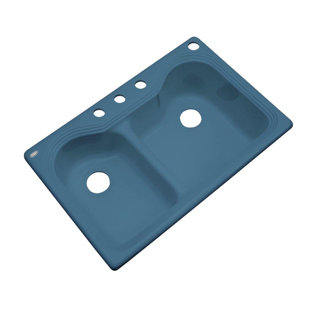 Dekor sinks 56421 buckingham double bowl cast acrylic kitchen sink ...