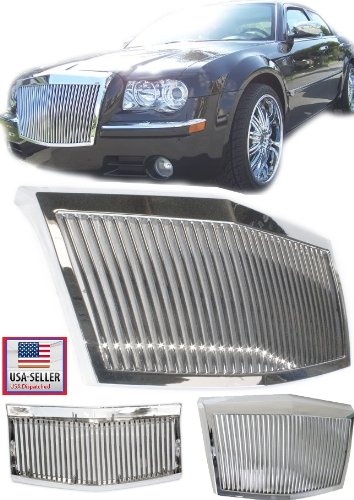 - 05-10 Chrysler 300 / 300C Chrome Vertical Phantom Style Front Hood Grille Grill 2005 2006 2007 2008 2009 2010