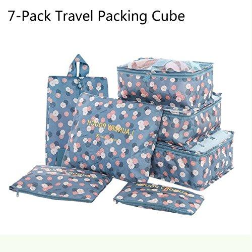 Waterproof 5-Piece Packing Bags (Sky Blue) - 8