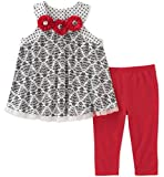 Kids Headquarters Little Girls' Tunic Set-Sleeveless, Printed/Red, 5