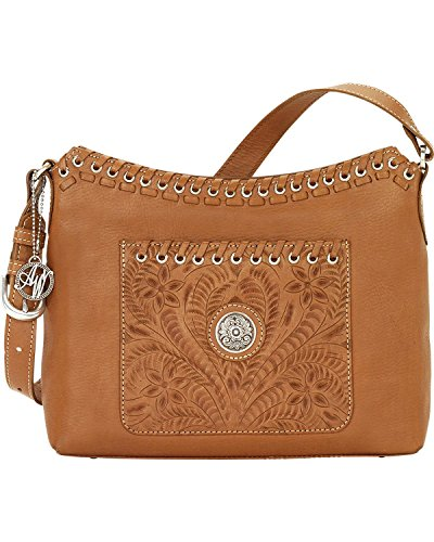 American West Women's Golden Harvest Moon Shoulder Bag Tan One Size by American West