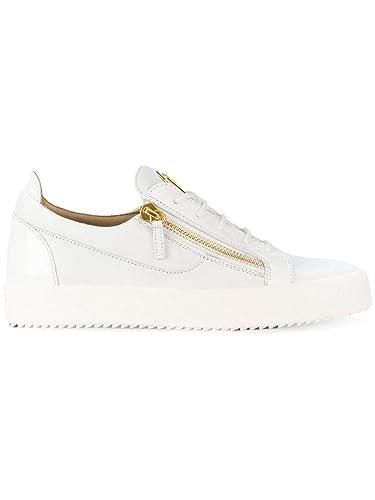 867585c3cfcee Amazon.com   Giuseppe Zanotti Design Men's RU70000003 White Leather ...