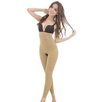 2c02454359 Women 2019 Leg Shaper Pants Shapewear Thigh Slimmer Waist Sculpting Sleep  Legging Bodysuit Socks (Khaki
