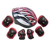 Changeshopping 7pcs Adults Unisex Self Balancing Bike Roller Knee Elbow Wrist Helmet Pad