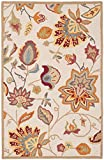 Safavieh Four Seasons Collection FRS413B Hand-Hooked Ivory and Yellow Indoor/ Outdoor Area Rug (3'6' x 5'6')