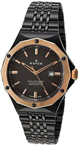 Edox Women's 54004 37GRM GIR Delfin Analog Display Swiss Quartz Grey Watch