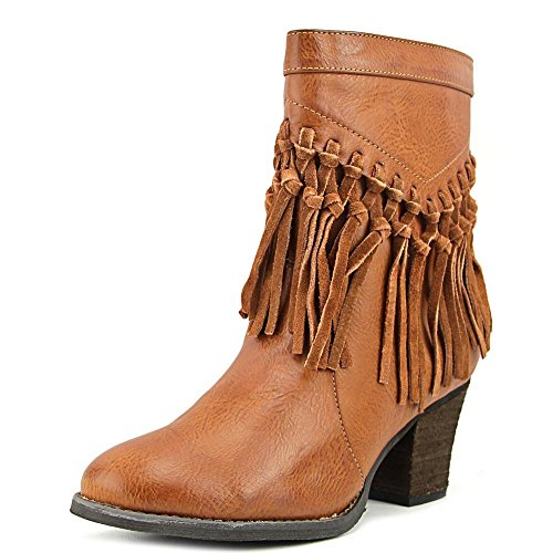 Sbicca Kathrin Women's Vegan Leather Knotted Fringe Bootie Boot Tan Size 7 ()