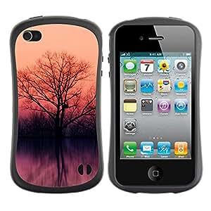 Suave TPU GEL Carcasa Funda Silicona Blando Estuche Caso de protección (para) Apple Iphone 4 / 4S / CECELL Phone case / / Lake trees /