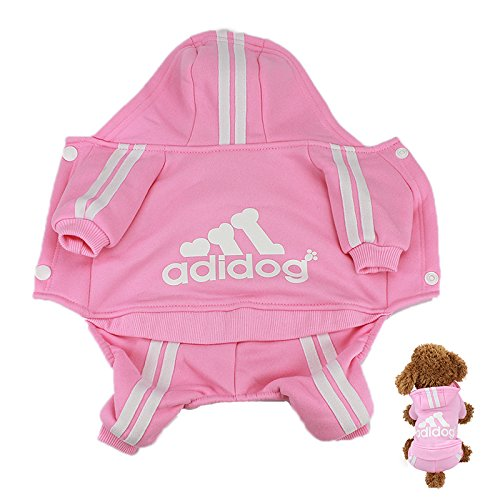 IdepetTM-Adidog-Pet-Dog-Cat-Clothes-4-Legs-Cotton-Puppy-Hoodies-Coat-Sweater-Costumes-Dog-Jacket-XS-Pink