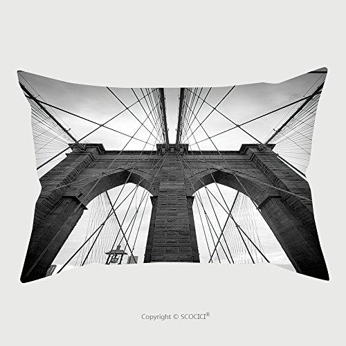 Custom Cotton Linen Pillowcase Protector Black And White