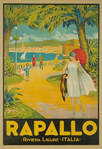 Rapallo Vintage Poster artist: Natoli Italy c. 1925 Collectible Giclee Gallery Print, Wall Decor