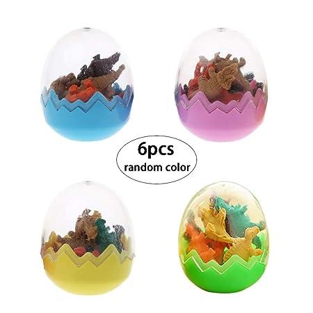 6 huevos de dinosaurio de goma para juguetes, huevos de ...