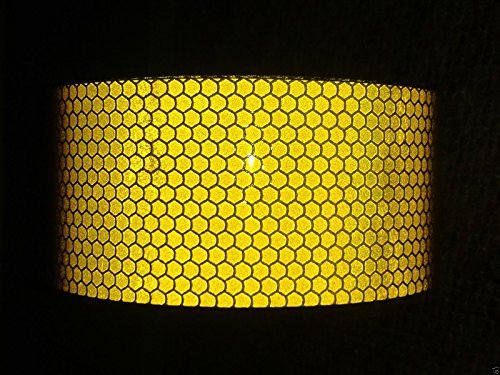 4M X 50mm YELLOW Oralite High Intensity Prismatic Reflective Tape Self Adhesive Sticky Back Vinyl Safety Hi High Viz by Zoom Trading UK