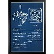 ProFrames Joystick Atari 2600 Video Gaming Official Patent Blueprint Framed Poster 12x18