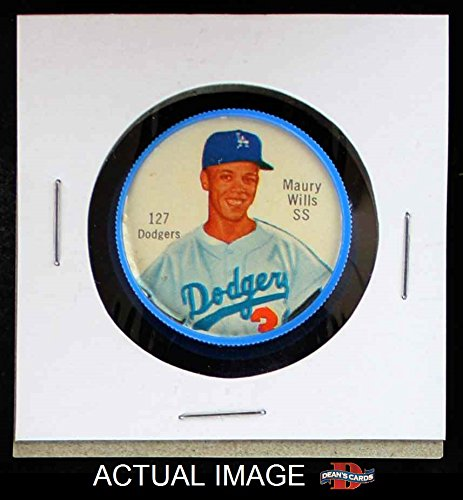 1962 Salada Coins # 127 RED Maury Wills Los Angeles Dodgers (Baseball Card) (Red #3) Dean's Cards 5 - EX Dodgers