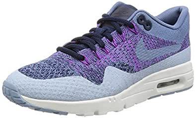 Nike Womens Air Max 1 Ultra Flyknit Running Trainers 859517 Sneakers Shoes (UK 3.5 US 6 EU 36.5, Ocean Fog 400)