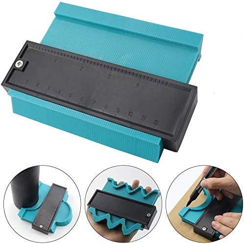 SXYHKJ Medidor de Contornos para Suelo-5 pulgadas/125 mm Perfil de plástico Duplicador de medidor de contorno Herramienta de marcado de madera Azulejos laminados,Regla de Medición (125MM): Amazon.es: Bricolaje y herramientas