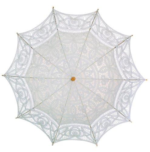 El 1para Vintage batternburg encaje sombrilla 8colores Marfil - Marfil