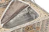 Picknickkorb-2-Personen-Weidenkorb-mit-Khlfach-und-Flaschen-Khltasche-mit-Tragegriff