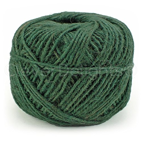 Green Hemp Cord (CleverDelights Green Jute Twine - 100 Yards - 2mm Diameter - Eco-Friendly Natural Jute String Rope)
