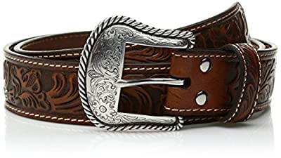 Nocona Men's Floral-Embossed Western Belt