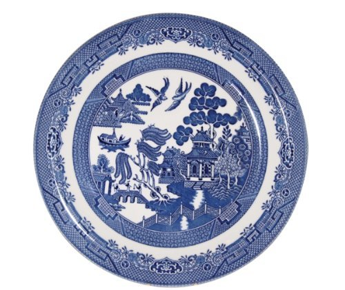 Churchill Blue Willow Dinner Plates 10